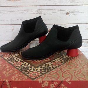 Camper Alright Ankle Boot Red Heel Booties Size 41